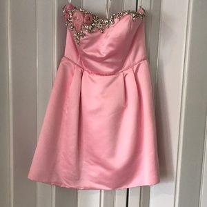 Sherri Hill strapless pink dress size 12